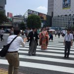 Scramble crossing in Shibuya